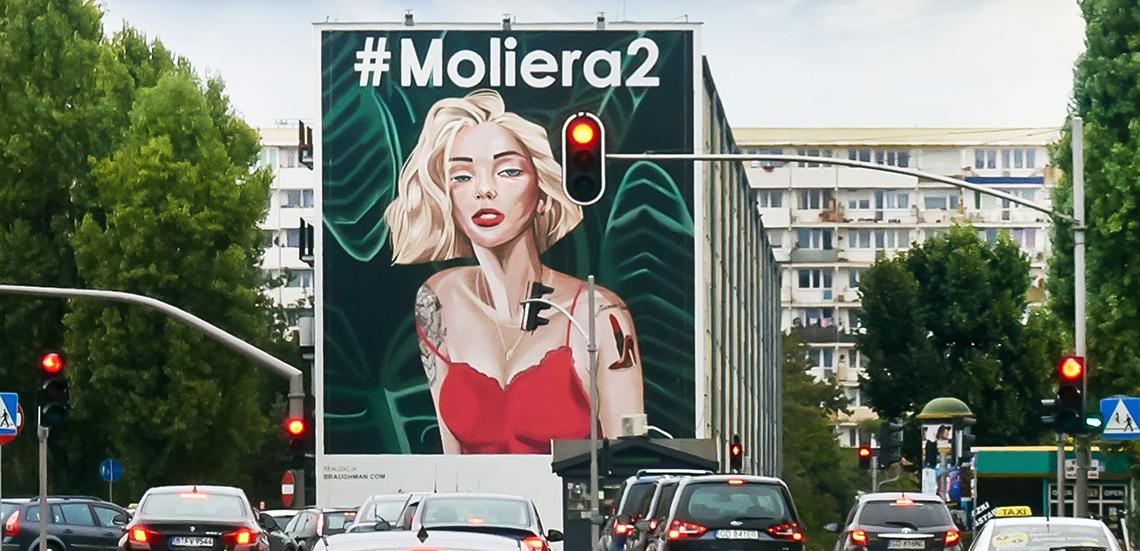 Mural Moliera 2 w Gdańsku