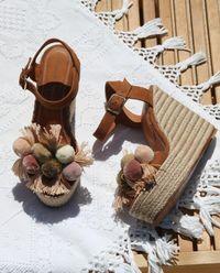 Sandály na klínku Holi Pastel