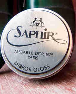 Czarny wosk do butów Mirror Gloss