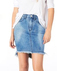 Džinová sukně s vysokým pasem