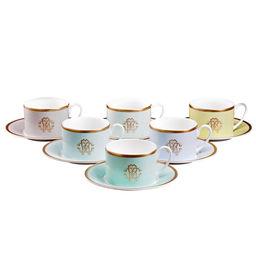 Zestaw 6 filiżanek do herbaty Lizzard Sunrise
