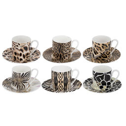 Zestaw 6 filiżanek do kawy Africa