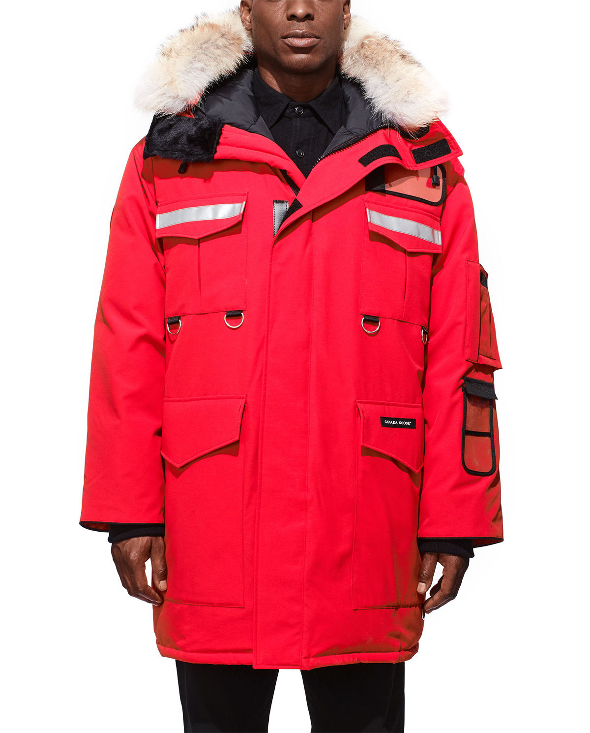 canada goose płaszcz czerwone