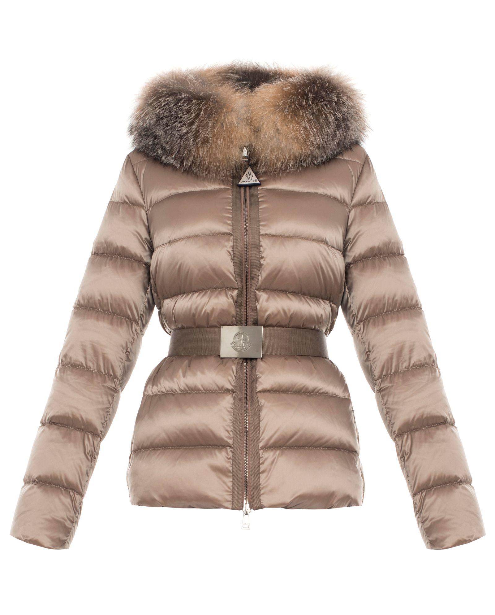 Moncler Fur beżowe