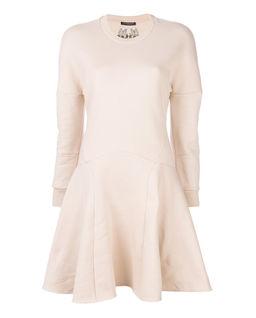 Beżowa sukienka z bawełny