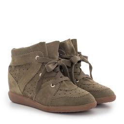 Sneakersy Bobby Taupe z ukrytym koturnem 5 cm