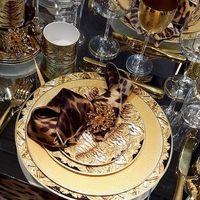 Talerz obiadowy Lizzard Gold