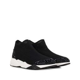 Czarne sneakersy z kryształkami Swarovskiego