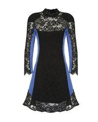 Koronkowa sukienka ze stójką