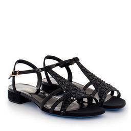 Sandały z kryształkami Svarowskiego