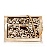 Skórzana torebka z kryształkami Swarovskiego