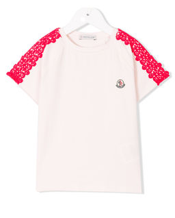 T-Shirt z koronką 4 - 12 lat