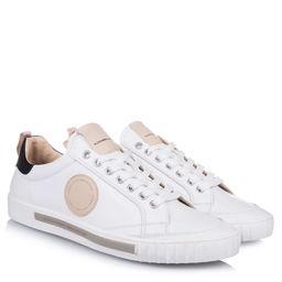 Sneakersy z okrągłą naszywką