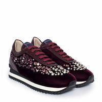 Sneakersy z kryształkami Swarovskiego