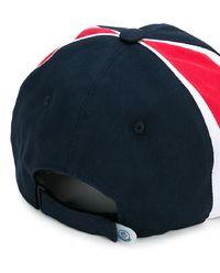 Trójkolorowa czapka z daszkiem
