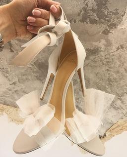 Boty na jehle s mašlí