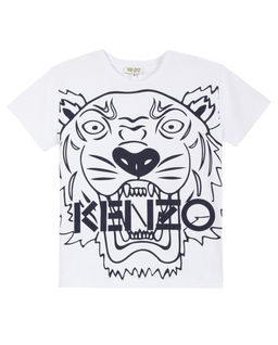 Biały T-Shirt Tiger 4 - 16 lat