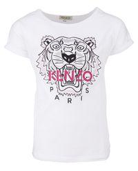 Biały T-shirt Tiger