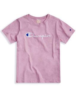 Růžové tričko s logem