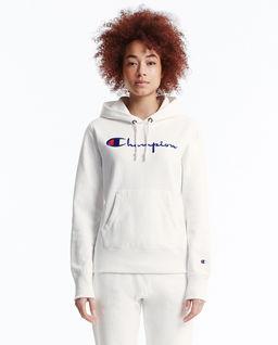 Biała bluza z kapturem