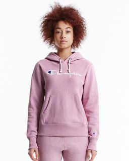 Růžová mikina s kapucí