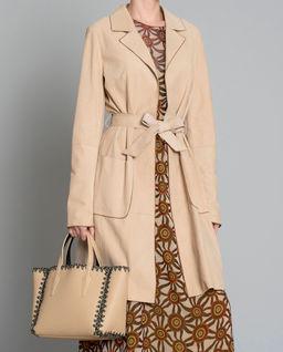 Zamszowy płaszcz