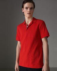 Czerwona koszulka polo