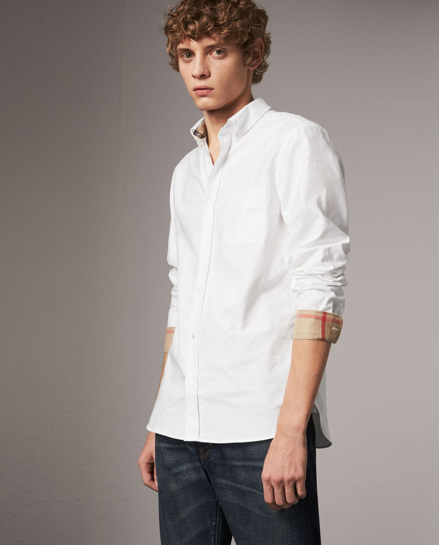 97d46acfe43bab Biała koszula oxford BURBERRY – Kup Teraz! Najlepsze ceny i opinie ...