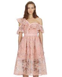 Sukienka floral mesh