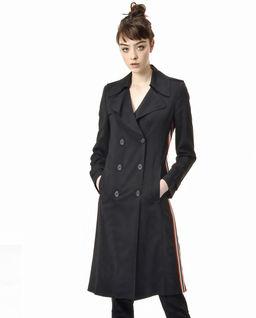 Płaszcz dwurzędowy z lampasami