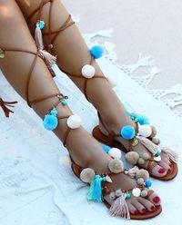 Sandály Santorini