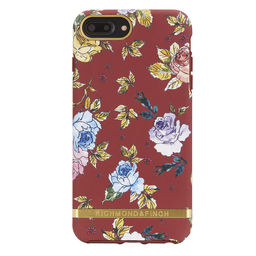 Case Red Floral iPhone 6+, 6s+, 7+, 8+