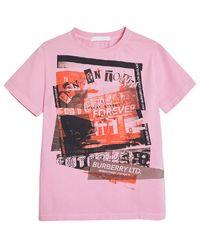 Różowy t-shirt z nadrukiem 8-14 lat