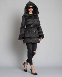 Pikowany płaszcz z futranym kapturem Boccalle Imbottitto