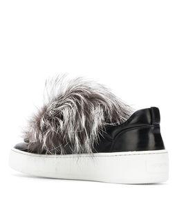 Sneakersy z futerkiem