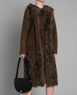 Dwustronny brązowy płaszcz