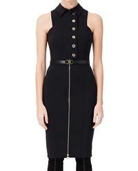 Asymetryczna czarna sukienka