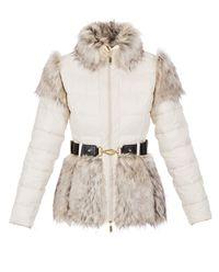 Płaszcz z ekologicznym futrem