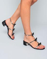 Sandały z kryształami Swarovskiego