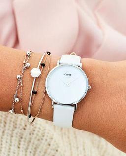 Zegarek La Perle Silver White
