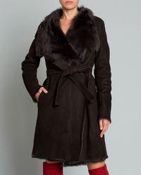 Płaszcz dwustronny z futrem