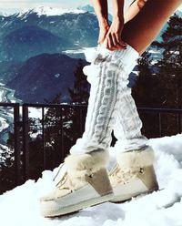 Śniegowce z futrem na ukrytym koturnie 2.5 cm