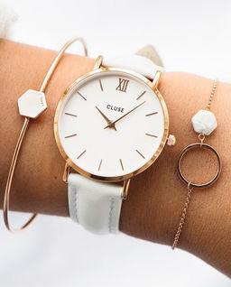 Zegarek Minuit Rose Gold White/White