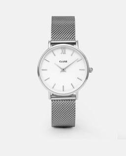 Zegarek Minuit Silver White/Silver
