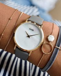 Zegarek Rose Gold White Pearl/Grey