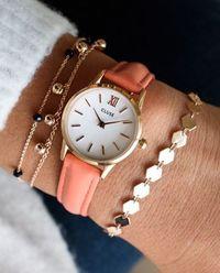Zegarek La Vedette Rose Gold White/Flamingo