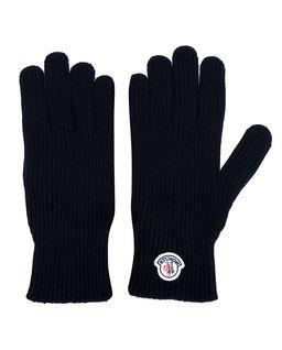 Granatowe rękawiczki z wełny