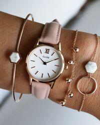 Zegarek La Vedette Rose Gold White/Pink