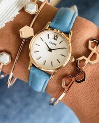 Zegarek La Vedette Rose Gold White/Retro Blue