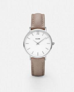 Zegarek Minuit Silver White/Hazelnut